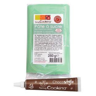 Pastel green sugar paste 250 g +...