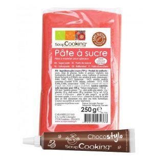 Zuckerteig - orange Korallen - 250 g...
