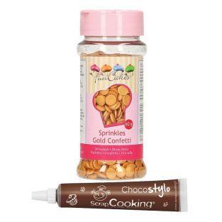 Zuckeredekor Konfetti 60 g - Gold +...