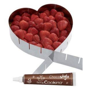 Cadre à pâtisserie extensible coeur +...