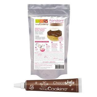 Chocolate icing fondant +...