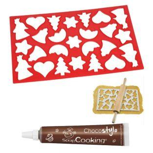 Plaque découpoir 25 biscuits de Noël...