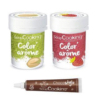 2 Lebensmittelfarben - Erdbeer- und...