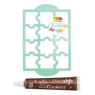 Plaque découpoir à biscuits Puzzle +...