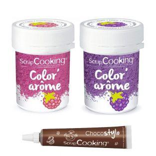 2 Food Colourings with raspberry &...