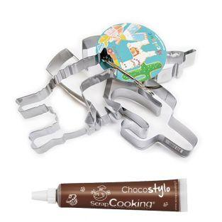 4 cookie cutters Lama + Edible...