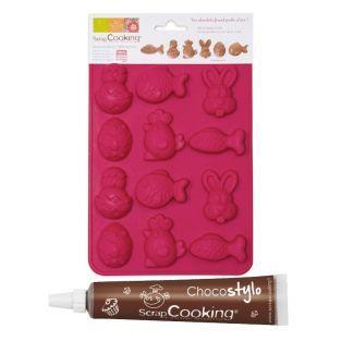 Moule Chocolats de Pâques + 1 Stylo...