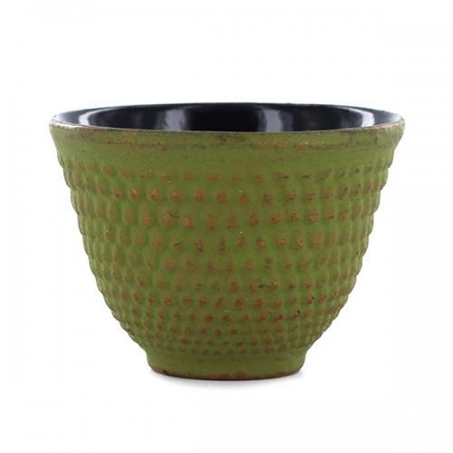 Taza de hierro - verde y oro