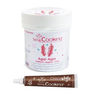 Agar powder 35 g + Edible chocolate pen