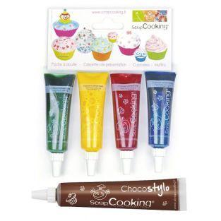 4 liquid food coloring...