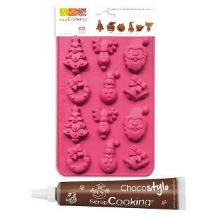 Formen für Weihnachtsschokolade +...