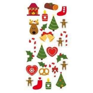 3D-Sticker Weihnachtsbäume