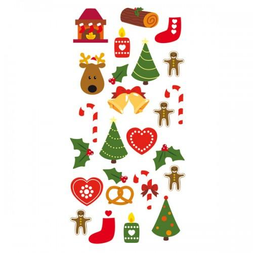 Stickers 3D Sapins de Noël