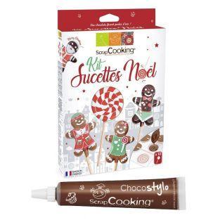 Kit sucettes Noël + 1 Stylo chocolat...