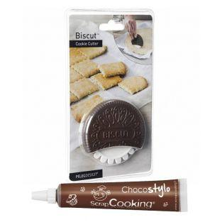 Ausstecher + Schokolade aus der Tube...