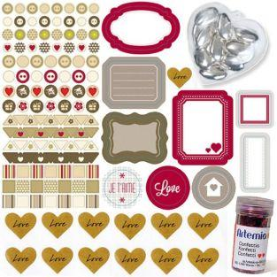 Kit scrapbooking amor