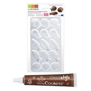 Molde rigido para freír el chocolate...
