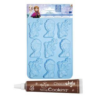 Molde de chocolates Frozen...