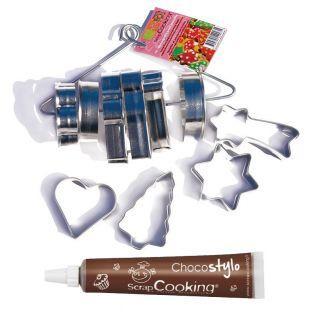 10 cortadores de galletas en acero...