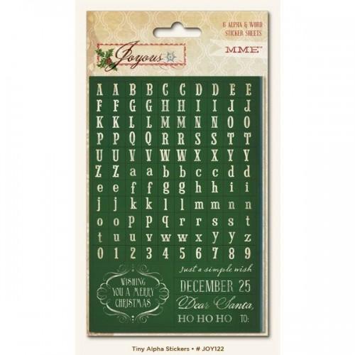 Christmas alphabet stickers