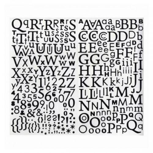 Alphabet stickers - Black