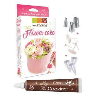 Set de pastelería Pastel flor + Tubo...