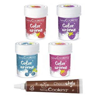 4 colorantes alimentarios con aromas...