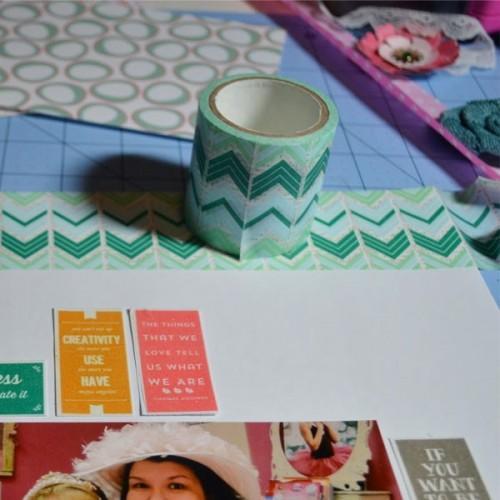Washi Tape large - bleu turquoise