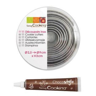 11 stainless steel round pastry...