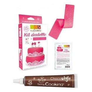 Kit de Encaje comestible + Tubo de...