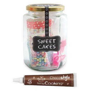 Bonbonglas Süße Cupcakes +...
