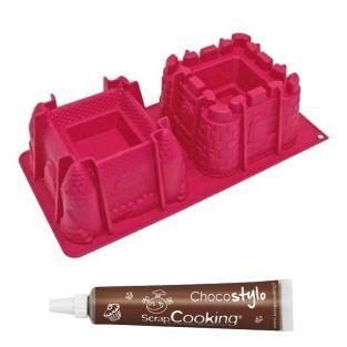 Moule à gâteaux châteaux + 1 Stylo...