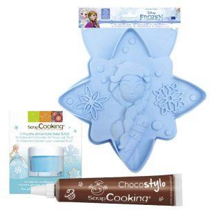 Molde de pastel Frozen + Polvo...