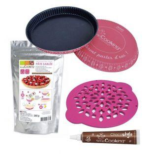 Pie mold + pie cutter Ø 30 cm + Sweet...