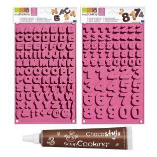Kit de moules à chocolat école + 1...