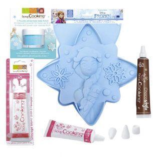 Molde de pastel Estrella Frozen +...