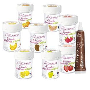 Kit 8 aromas alimentarios naturales...