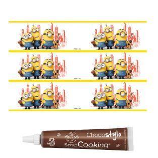 Bande de sucre pour gâteau Minions +...