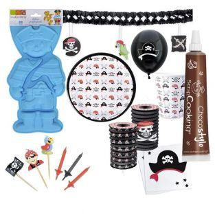 Pirate birthday Box with cake pan +...