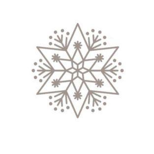 Tampon bois - Flocon étoile