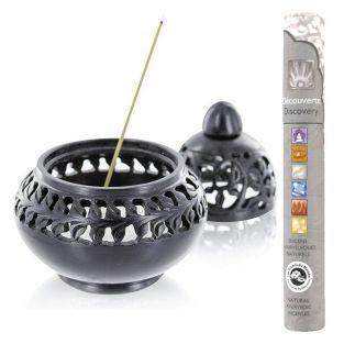 Encensoir en pierre noire Venise +...