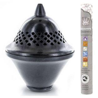 Brûle-parfum en pierre noire Séville...