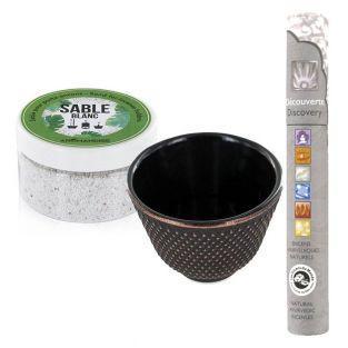 Black cast iron incense...
