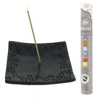 Incense holder black stone Kare +...