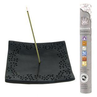 Incense holder black stone...
