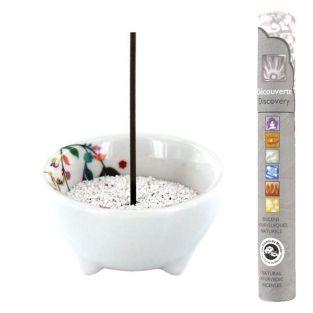 Vegetal porcelain incense holder +...