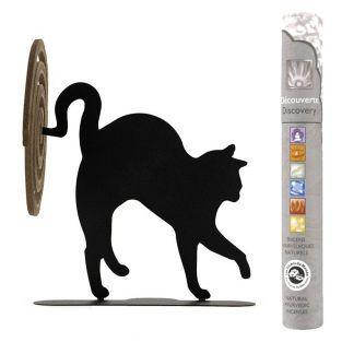 Porte-spirales d'encens chat noir +...