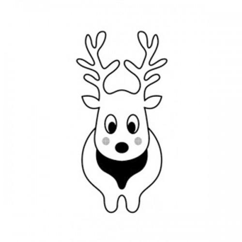 Wooden Stamp - naive Reindeer