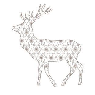 Tampon bois - Renne de Noël