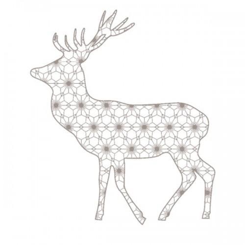 Wooden Stamp - Christmas Reindeer
